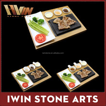 Lava Rock Cooking Stone Set,Resturant Natural Steak Grill Lava Stone Cooking Pot