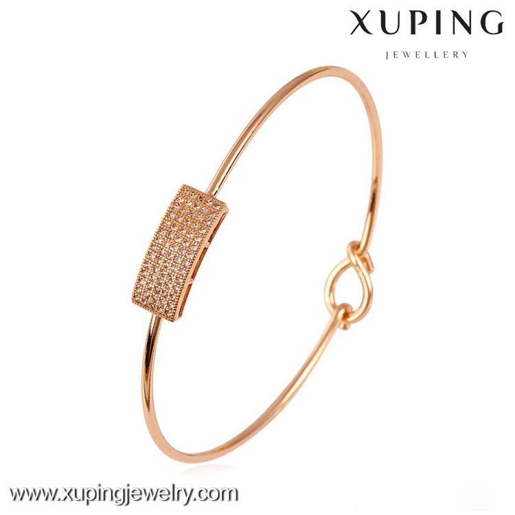 50630 xuping jewelry rose gold color imitation jewels good-looking design bangle for women
