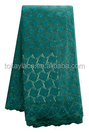 Wholesale 100% cotton african big swiss voile lace fabrics