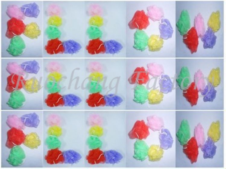 Promotional PE soft material body wash sponge bath sponge for shower