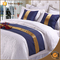 golden manufacter plain luxury hotel bedding set/ hotel bed linen
