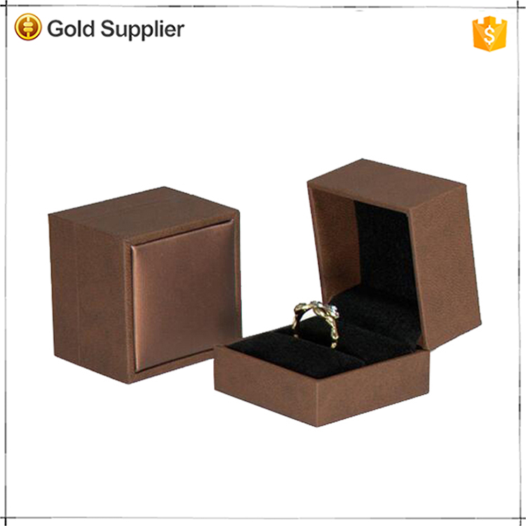 OEM factory price dark brown leather jewelry box