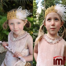 Scottish Feather Princess Crown Top Baby Headband ,Photo Crops