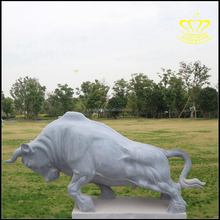 natural stone decorative marble animal bull statues sculpture