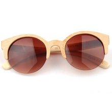 Top Polarized Wooden Bamboo Sunglasses Men Women Sunglass Mirror Lens Wood Sunglasses