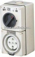 waterproof switched socket combination IP66