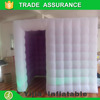Custom portable wedding party inflatable led photo booth with purple background