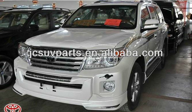PP gray primer 2012 up LC200 front bumper guard for Toyota Land Cruiser 200 front bull bar