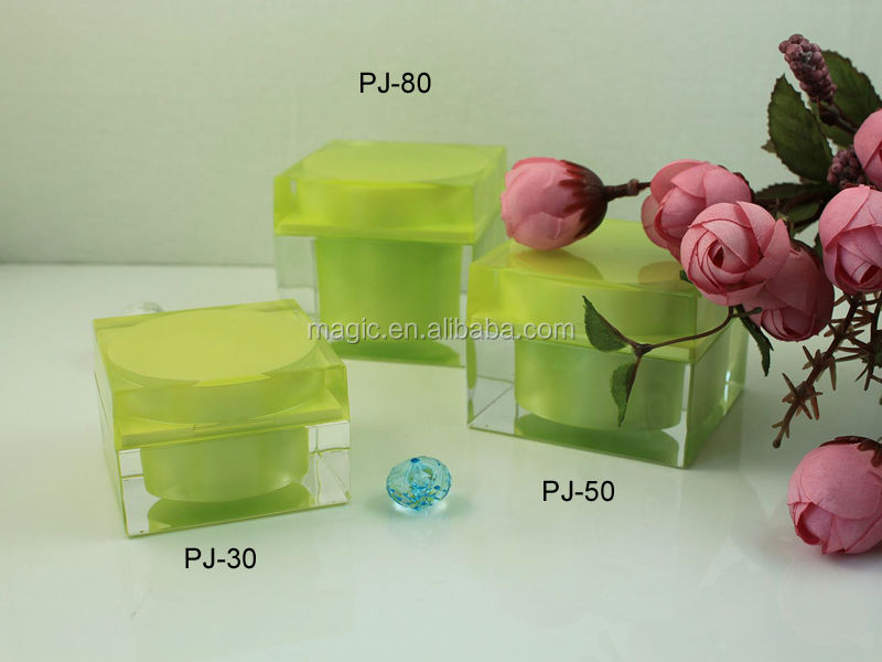 15 30 50 80 g Square Acrylic Cosmetic Packaging high quality acrylic jar