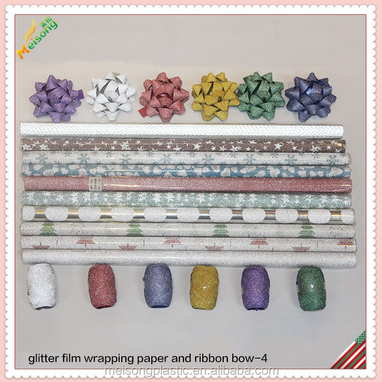 The glitter Gift Wrap paper and confetti bow and egg ribbon set