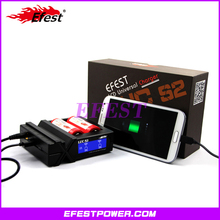Newest efest lcd charger Efest LUC S2 charger dual battery charger support input and output function at same time