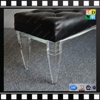 Wholesale Shenzhen factory low height acrylic furniture legs for bench,sofa,chair