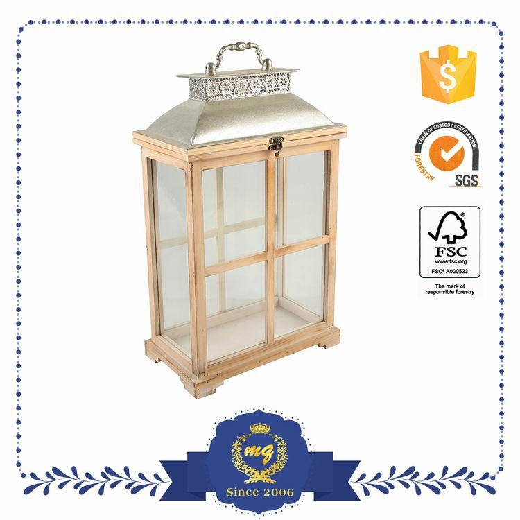 Top Selling Customized Oem Antique Wooden Candle Lantern Garden