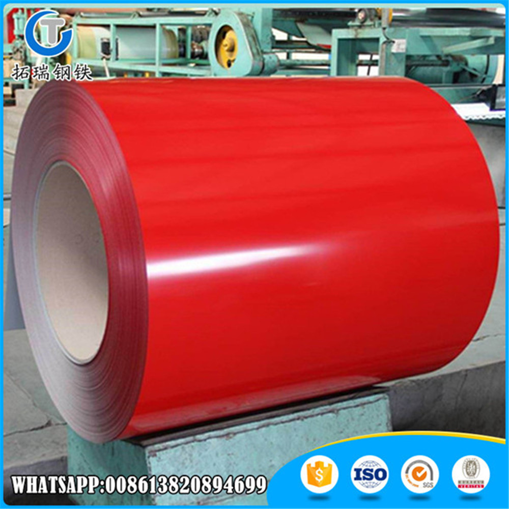 Cheap Price 0.35mm Ppgi Iron Steel Coil / Ral Color Coated Steel Coil For Roofing And Walling