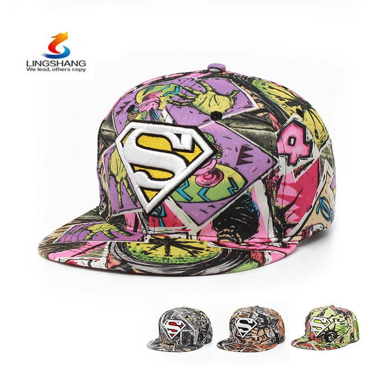 SurperMan Graffiti hip hop hat embroidery Superman flat along the hat snapback sports hat baseball <strong>cap</strong>