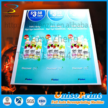 uv printing board 2016 China supplier trade assurance abs plastic posters,billboard advertising with stake