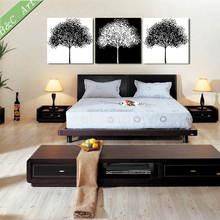 Famous simple abstract design black and white trees painting