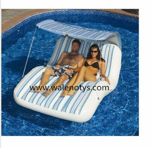 Large 2 Person Swimming Pool Lounger Beach Inflatable Raft