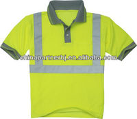 2016 Hot sale fluorescent cheap high quality hi vis safety green polo shirt