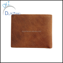 China factory wholesale custom real Leather purse,custom men's cheap leather wallet