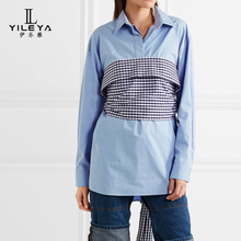 Hot selling new design shirt tunic tops for women