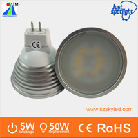 New design aluminum SMD5730 dimmable 5w spot light 12v led mr 16