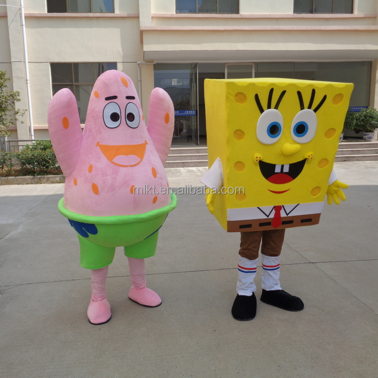 Factory direct sale customized spongebob mascot costume