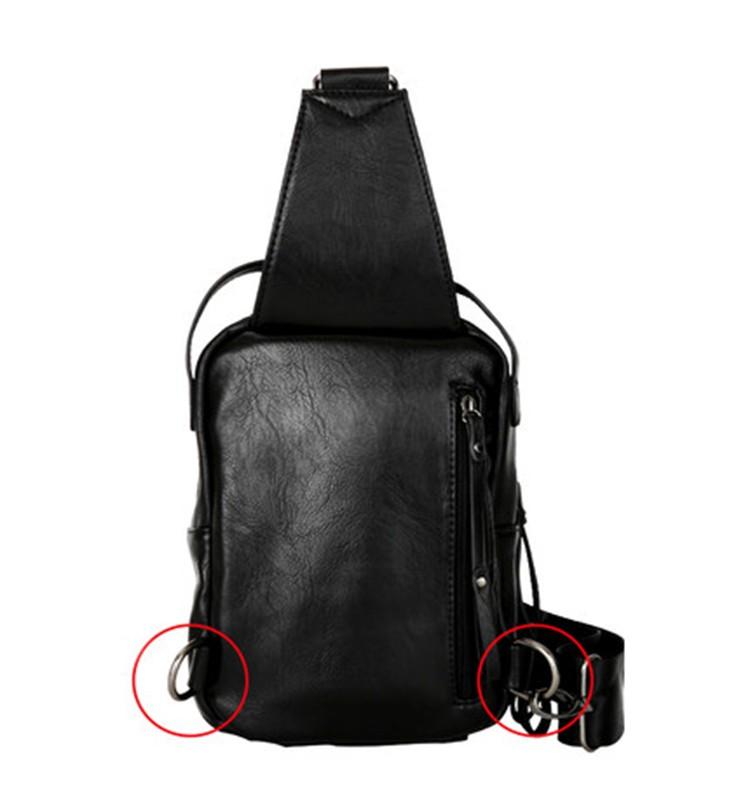 Man PU Leather Chest Bag Manufacturer