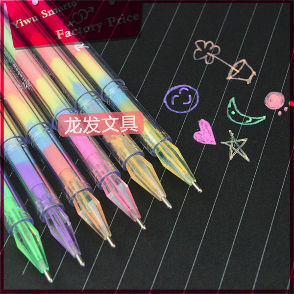 Good quality japanese stationery wholesale plastic water gel multi color pen for office <strong>school</strong> use