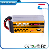 High Power Real Capacity 25C 16000mAh Lipo Battery for rc Helicopter Airplane car