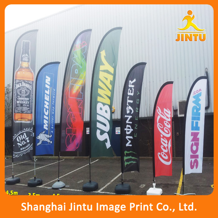 2016 Factory Direct Various Designs Wholesale Outdoor Advertising Beach Flag