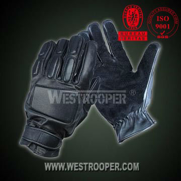 Tactical archer grain leather full finger gloves