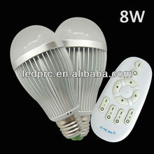 Factory selling E27/E26/B22 led lamp bulb with APP/Android wifi/RF remote control