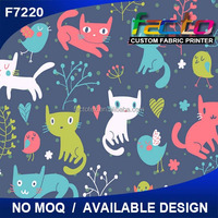 polyester90% cotton10% printing fabric and fashion cat print fabric