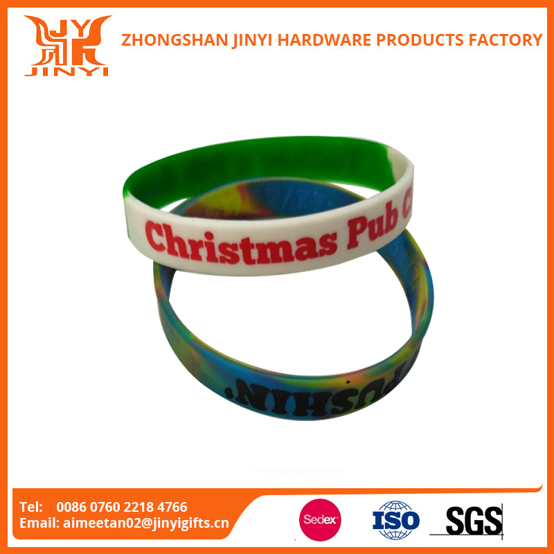 Factory directly sale promotion gifts custom branded rubber wristbands in zong shan