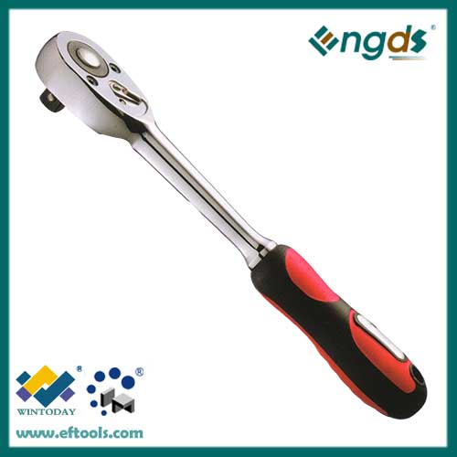 24T high quality cheap ratchet wrench with straight plastic handle