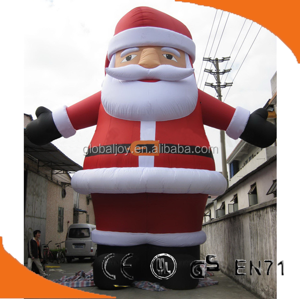 large outdoor christmas decoration/ plastic christmas decorations/ Inflatable Santa Claus