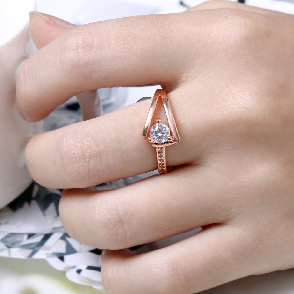 Fashion Latest Rose Gold Couple Rings Aqeeq Rings 1 Gram Gold Ring ...