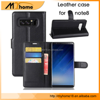 Flip Leather Wallet Case For samsung Note 8, Luxury Leather Wallet Cover Flip Phone Case For Samsung Galaxy Note8 Case Cover