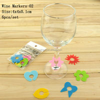 Promotion Identification Silicone Wine Glass Marker/Wine Glass Charms/Plastic Glass Clip