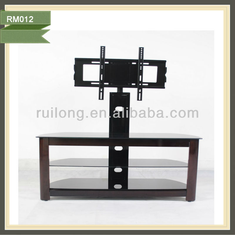 mdf lcd tv table mount with wheels RM012B