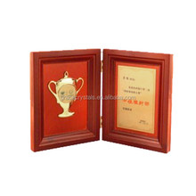 Folding sports wooden free standing plaque
