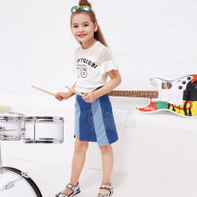 2017 YDM Baby Girls Boutique Short Dress Kids Jean Kid Ready Children Stripe Denim Girls Cute Short Skirt With High Quality