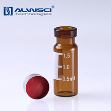 Standard Opening Amber glass 1.5ml chromatography crimp vial for GC