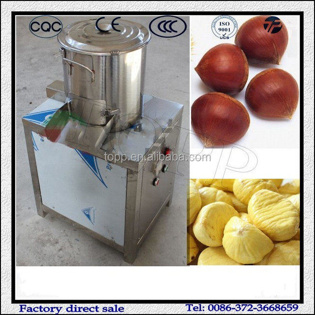 Small Chestnut Brown Skin and Inner Skin Peeling Machine