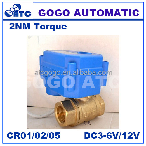 2 way brass & SS304 MINI electric motor ball valve Factory settings is normally open motorised valve