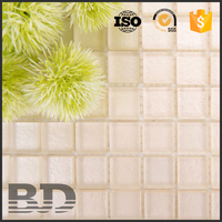 Matt / Frosted broken Surface Metallic Glass Mosaic tile
