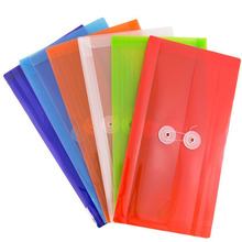 Plastic filing case A4 size pp elastic band filing document bag file folder for office and school