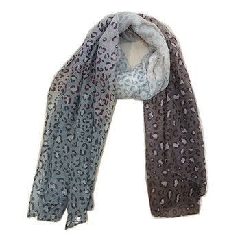 New spring stylish ombre color leopard print scarf