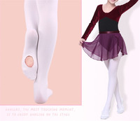 BT00002 Wholesale Kids Nylon Spandex White Ballet Competition Dance Tights